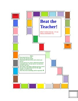 Beat the Teacher (Common Core E.L.A. review game)