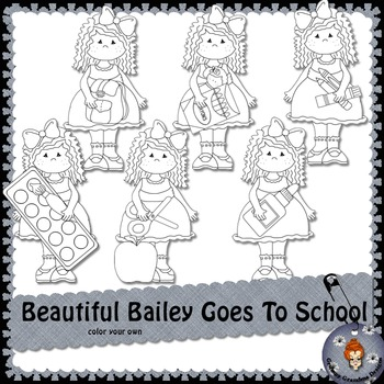 Beautiful Bailey Goes To School color your own
