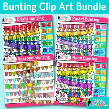 Beautiful Bunting Clip Art Bundle {Autumn, Spring, Summer,
