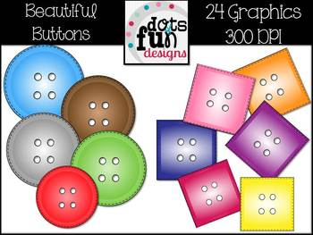 Beautiful Buttons: Clipart
