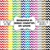Beautiful in Basic: Chevron on White Digital Paper Pack
