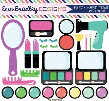 Beauty Clipart - Makeup & Hair Graphics