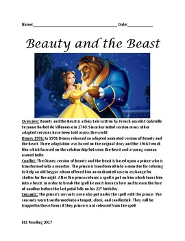 Beauty and the Beast - informational article movie, facts,