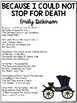Because I Could Not Stop For Death Poem, Emily Dickinson,