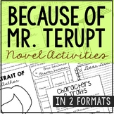 Because of Mr. Terupt by Rob Buyea Interactive Notebook No