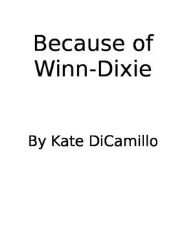 Because of Winn-Dixie Book Study