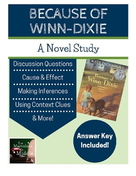 Because of Winn-Dixie Book Study - Common Core Aligned