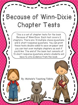 Because of Winn-Dixie Chapter Tests