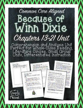 Because of Winn-Dixie Chapters 13-21 Questions, Quizzes, N