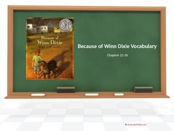 Because of Winn Dixie Chapters 22-26 Vocabulary PowerPoint