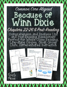 Because of Winn-Dixie Chapters 22-End & Post-Reading Quest