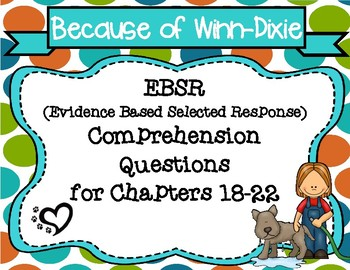 Because of Winn-Dixie EBSR Comprehension Question Sets for