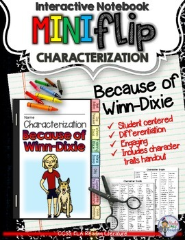BECAUSE OF WINN-DIXIE: INTERACTIVE NOTEBOOK CHARACTERIZATI