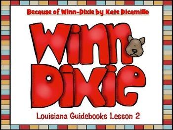 Because of Winn-Dixie Louisiana Guidebooks Lesson 2 Bundle