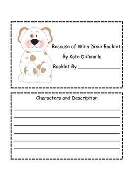 Because of Winn Dixie Mini Booklet