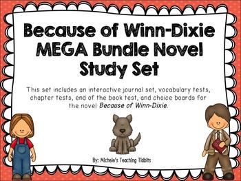Because of Winn-Dixie Novel Study Mega Bundle Pack