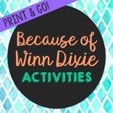Because of Winn Dixie Novel Unit Study Activities, Book Re