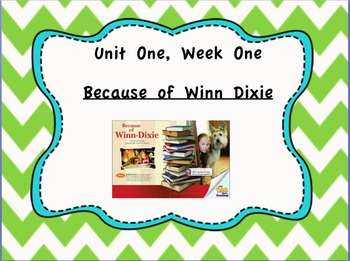 Because of Winn Dixie - Reading Street 4th Grade Unit One,