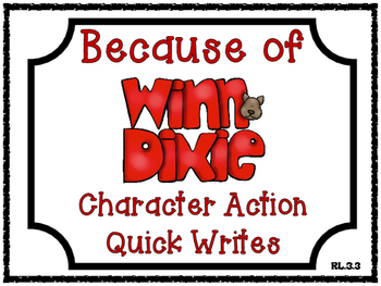 Because of Winn-Dixie by Kate DiCamillo Character Action Q