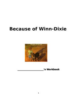 Because of Winn Dixie workbook