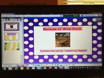 Because of Winn Dixie youtube chapter read alouds
