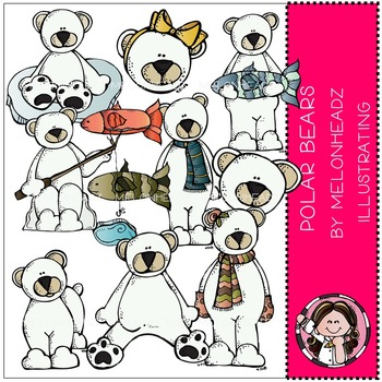 Melonheadz: Polar Bears clip art - COMBO PACK