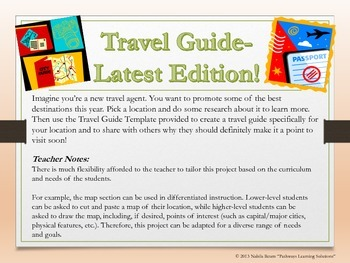 Become a Travel Agent! Geography-Themed Project