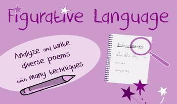 Figurative language in poetry lessons: creative writing, v