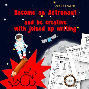 Become an astronaut and improve cursive writing: Space, 7