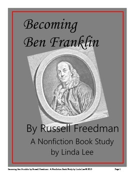 Becoming Ben Franklin by Russell Freedman: A Nonfiction Bo