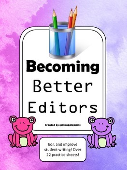 Becoming Better Editors Pack Primary level