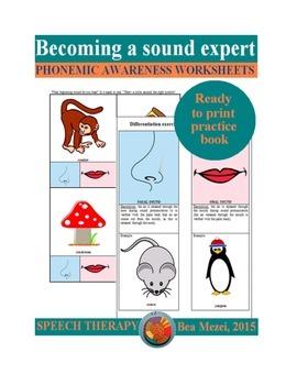 Becoming a sound expert- phonemic awareness worksheets