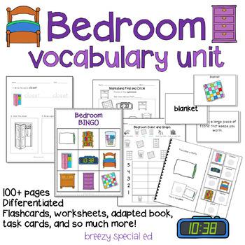 Bedroom Vocab Life Skills Unit for Special Education / Autism