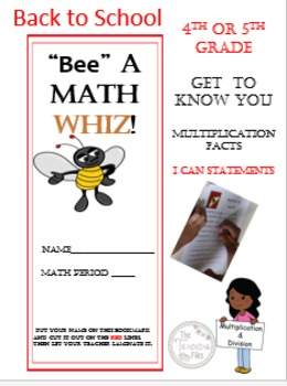 """Math Back to School Packet for Grades 4-5"""""""