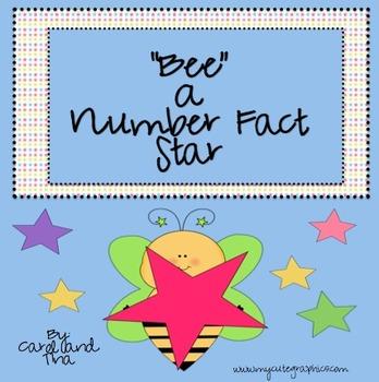 "Calendar Activity: ""Bee"" A Number Fact Star"