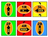 Bee-Bot: Color Coded Direction Cards