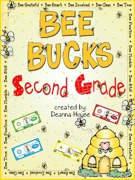 Bee Bucks Incentive Dollars Second Grade
