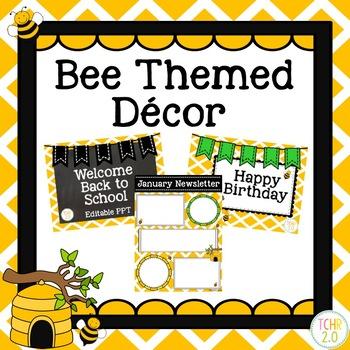 Classroom Decor Bundle Bee Theme Back to School
