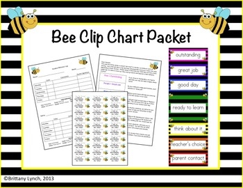 Bee Clip Chart Packet (Editable)