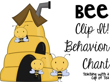 Bee Clip It! Behavior Chart