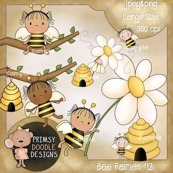 Bee Fairies 300 dpi clipart