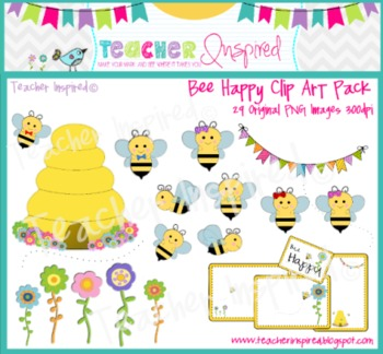 Bee Happy Clip Art Pack