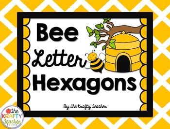 Bee Theme, Print Hexagon Letters, Bulletin Board, Word Wall