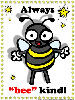 Bee Poster: Always Bee Kind Poster for Students - Supersta