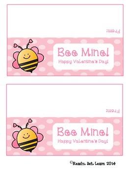 Bee Mine Valentine's Day Treat Bag Topper