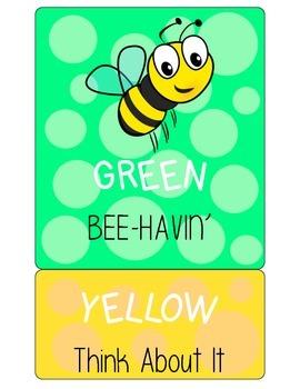 Bee Polka Dot Behavior Clip Chart