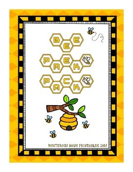 Bee PreK Printable Learning Pack