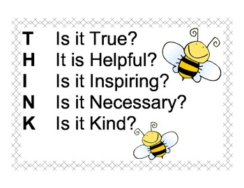 Bee THINK Poster