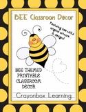 Bees Classroom Decor