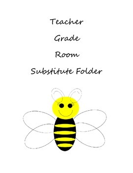 Bee Theme Clipart Binder Inserts or...